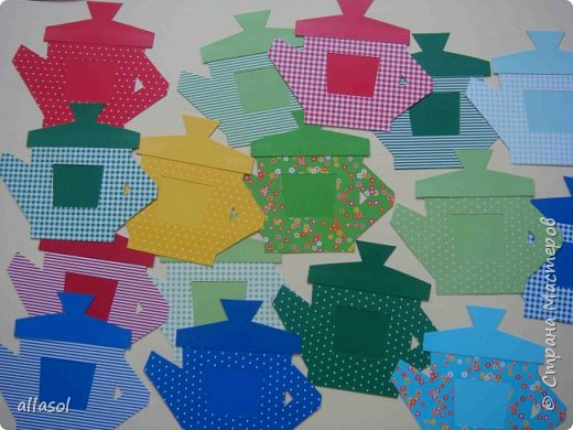 Сделала чайники - сувениры для одного пакета чая. фото 13
