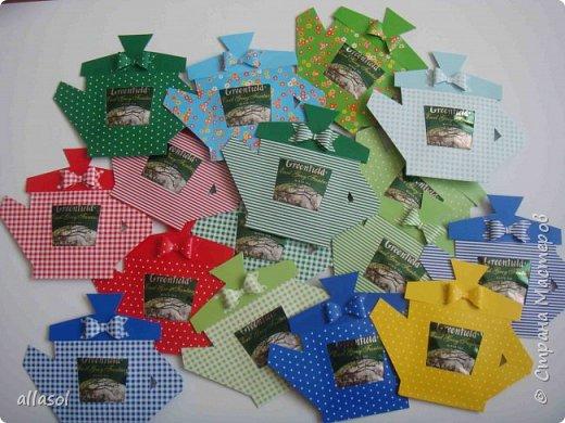 Сделала чайники - сувениры для одного пакета чая. фото 1