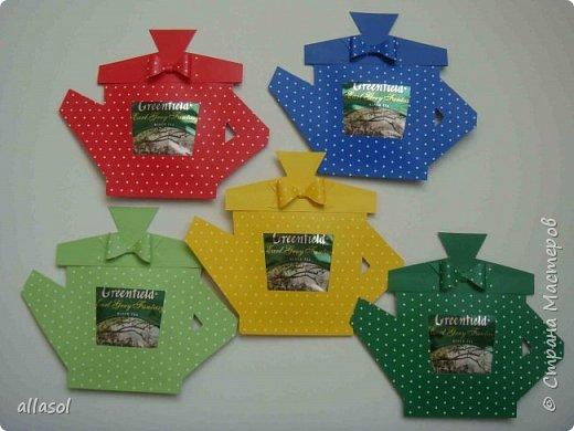 Сделала чайники - сувениры для одного пакета чая. фото 2