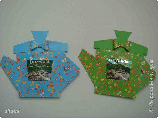Сделала чайники - сувениры для одного пакета чая. фото 5