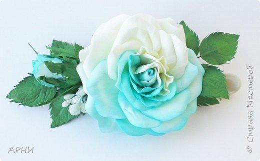 Такую розу сделала по МК Марины Хвалевой. фото 2