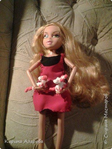 """Привет! Сегодня я сплела из резиночек крыс. И у меня есть платье которое я называю """"Божья коровка"""". фото 1"""