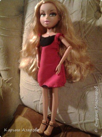 """Привет! Сегодня я сплела из резиночек крыс. И у меня есть платье которое я называю """"Божья коровка"""". фото 5"""