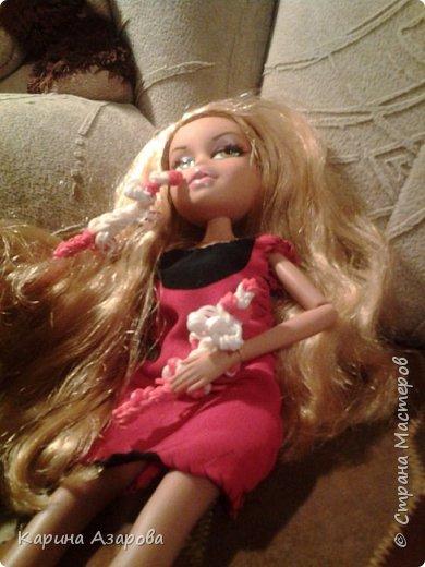 """Привет! Сегодня я сплела из резиночек крыс. И у меня есть платье которое я называю """"Божья коровка"""". фото 7"""
