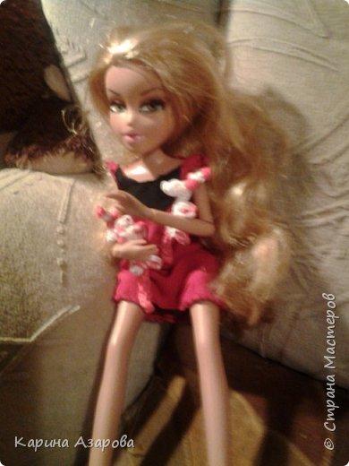 """Привет! Сегодня я сплела из резиночек крыс. И у меня есть платье которое я называю """"Божья коровка"""". фото 9"""