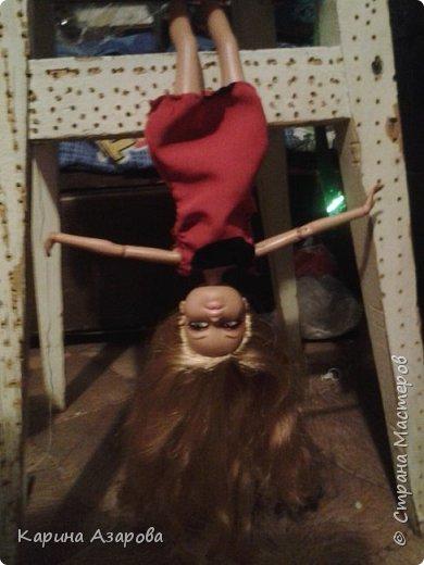 """Привет! Сегодня я сплела из резиночек крыс. И у меня есть платье которое я называю """"Божья коровка"""". фото 12"""