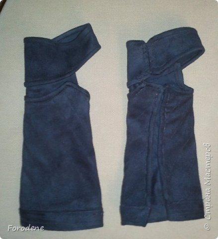 Добрый день. Я хочу вам показать, как можно сделать «кожаные» наручи. фото 8