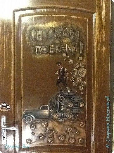 Такую дверь сделала мужу на юбилей! фото 1