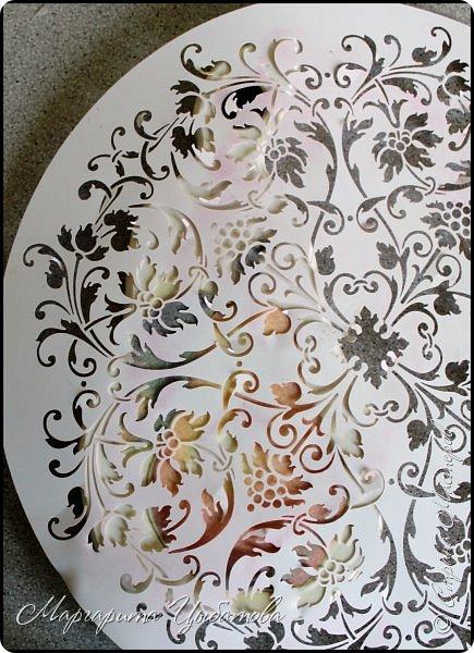 Декор предметов Мастер-класс Декупаж Накладной фон в декупаже Дерево Краска фото 18