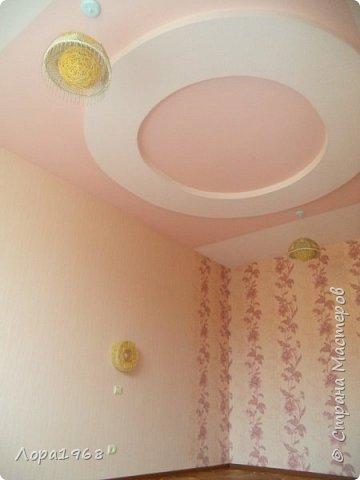 Здравствуйте дорогие мастера и мастерицы. Хочу показать вам свою работу-такой потолок сложной формы на кухне я сотворила. Вернее будет сказать мой дизайн и вся чистовая отделка,а монтаж и электрика-работа моего дорогого супруга ВАСИЛЬКА. фото 4
