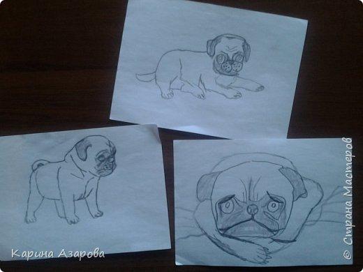 """Здравствуйте! Нашла рисунки которые рисовала год назад.  Рисунок """"Кролик на полянке"""" (чуть-чуть кто-то накапал). фото 2"""