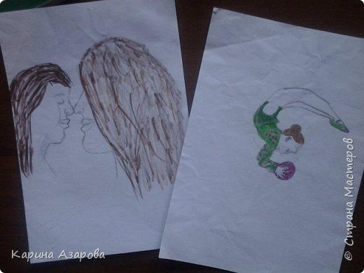 """Здравствуйте! Нашла рисунки которые рисовала год назад.  Рисунок """"Кролик на полянке"""" (чуть-чуть кто-то накапал). фото 4"""
