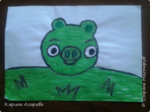 """Здравствуйте! Нашла рисунки которые рисовала год назад.  Рисунок """"Кролик на полянке"""" (чуть-чуть кто-то накапал). фото 6"""