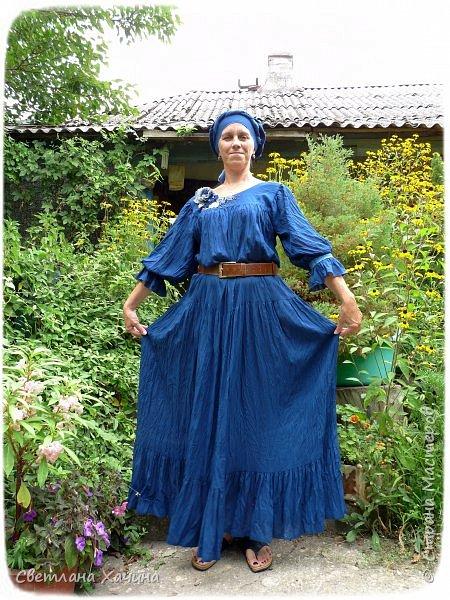 Гардероб Мастер-класс Моделирование конструирование Шитьё Платье традиционным кроем Ткань фото 1