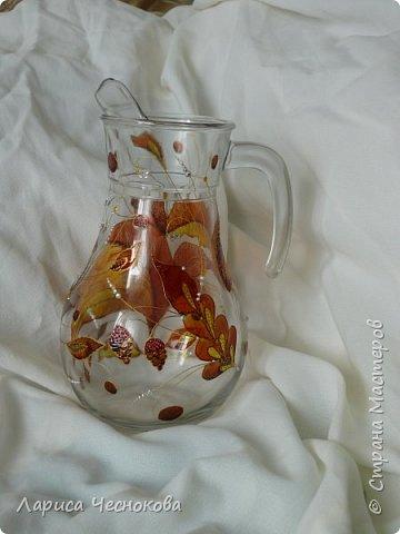 314302_p1350928 Вазы из стеклянных бутылок: декор, роспись и обрезка