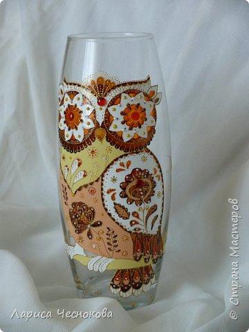 314302_p1360310 Вазы из стеклянных бутылок: декор, роспись и обрезка