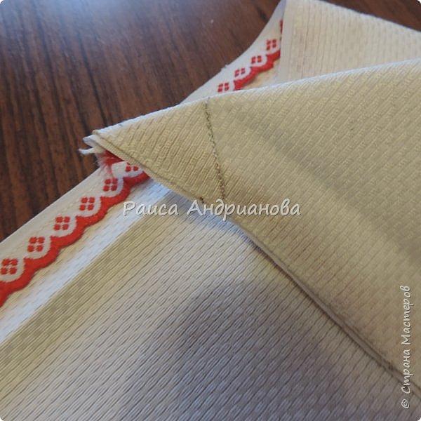Для работы понадобится: ткань, тесьма, лента атласная или органза 0,6см(для цветка) и лента атласная о,3см зеленого цвета (лдя листиков), мулине. фото 17