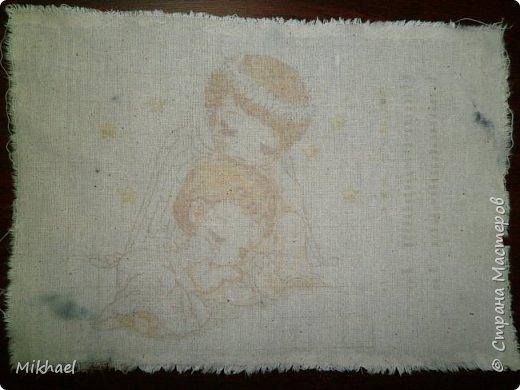 Хочу поделиться способом как произвести печать на ткани обычным струйным принтером и как с помощью этого сделать разметку для вышивки на обычной ткани. фото 12