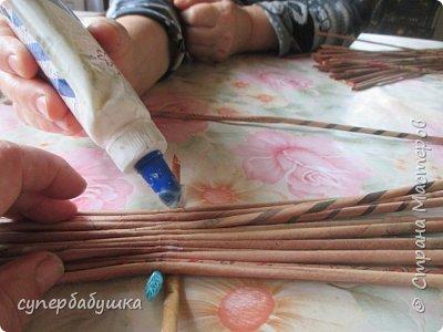 Мастер-класс Поделка изделие Плетение Дно  по вашим просьбам Трубочки бумажные фото 2