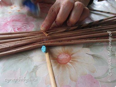 Мастер-класс Поделка изделие Плетение Дно  по вашим просьбам Трубочки бумажные фото 3