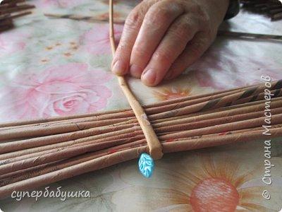 Мастер-класс Поделка изделие Плетение Дно  по вашим просьбам Трубочки бумажные фото 4
