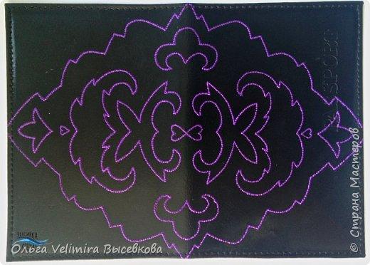 Декор предметов Мастер-класс Роспись МК ОБЛОЖКА ДЛЯ ПАСПОРТА ТУРЕЦКИЙ КОВЕР Кожа Краска фото 12
