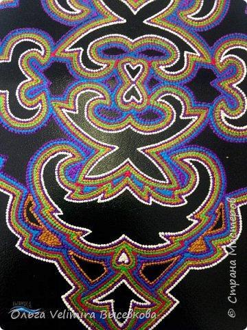 Декор предметов Мастер-класс Роспись МК ОБЛОЖКА ДЛЯ ПАСПОРТА ТУРЕЦКИЙ КОВЕР Кожа Краска фото 19
