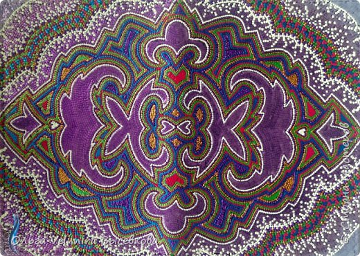 Декор предметов Мастер-класс Роспись МК ОБЛОЖКА ДЛЯ ПАСПОРТА ТУРЕЦКИЙ КОВЕР Кожа Краска фото 27