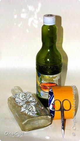 Декор предметов Мастер-класс Материалы и инструменты Лепка Мозаика Декор бутылки зеркальной мозаикой и эпоксидной смолой Бутылки стеклянные Пластика фото 11