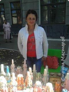 В городе Артёмовск, Донецкой обл. проходила ярмарка -выставка изделий ручной работы,где я принимала участие.На выставке были выставлены свечи резные, бутылки с декупажем, шкатулки. фото 1