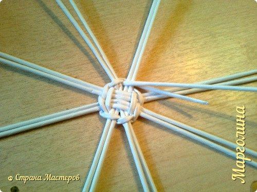 Кукольная жизнь Мастер-класс Поделка изделие Плетение Кукольная плетеная мебель выпуск первый Бумага Трубочки бумажные фото 5