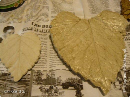 Мастер-класс Поделка изделие Литьё Роспись МК по отливкам из гипса панно листья магниты ч 2 Гипс Краска фото 3