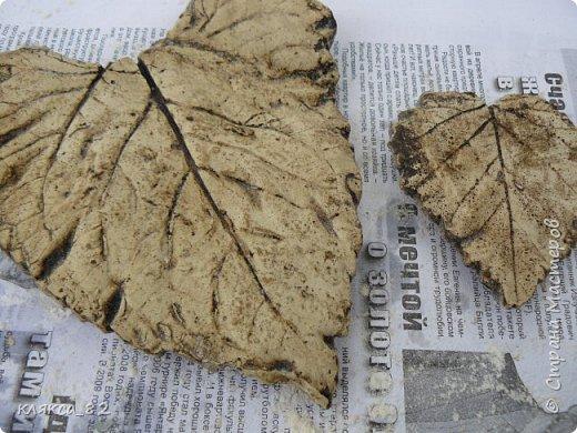 Мастер-класс Поделка изделие Литьё Роспись МК по отливкам из гипса панно листья магниты ч 2 Гипс Краска фото 7
