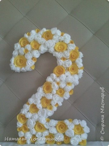 Цифра один из цветов с пошаговым