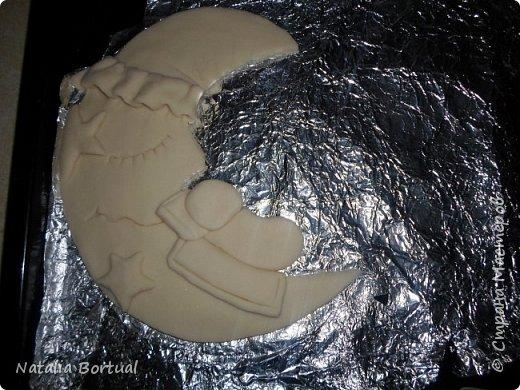 Добрый день всем любителям лепки из соленого теста и не только!!!! Сегодня хочу поделиться с вами тем как я делал фон для Метрики - панно и еще рассказать и показать как я слепила мальчика на луне!!! фото 23
