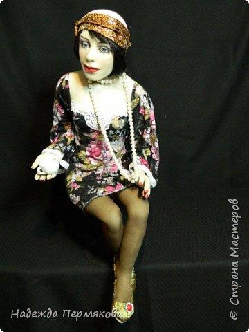 Текстильная кукла размер 50 см сидя, материал: капрон, синтепон, проволочный каркас. Техника скульптурный текстиль.