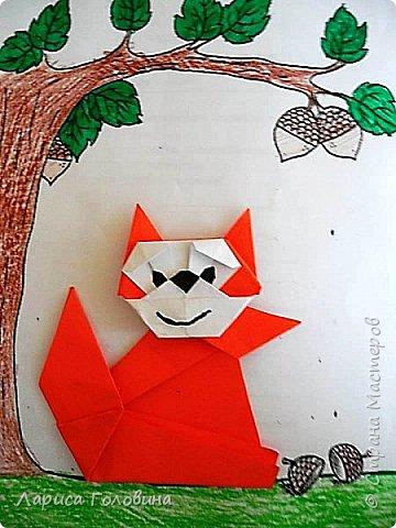 Оригами Белки + листопад