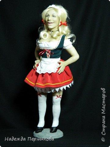 Кукла размером 65 см выполнена в технике скульптурный текстиль. фото 1