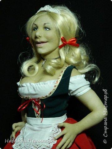Кукла размером 65 см выполнена в технике скульптурный текстиль. фото 2