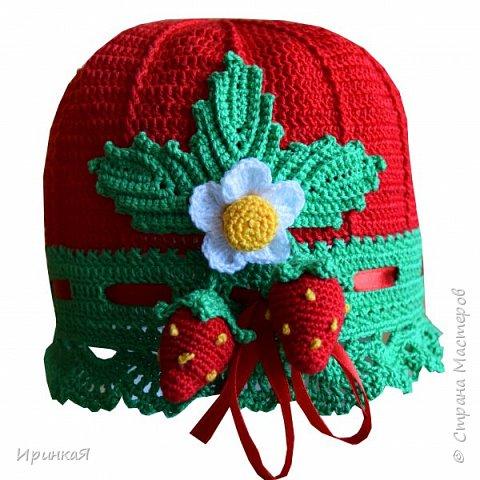 Такую яркую шапочку вязала летом для маленькой модницы фото 2