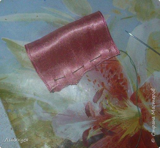 Вот такой бантик у меня получился из остатков лент.  Вам потребуется Ленты: розовая, желтая, красная, голубая. фото 3