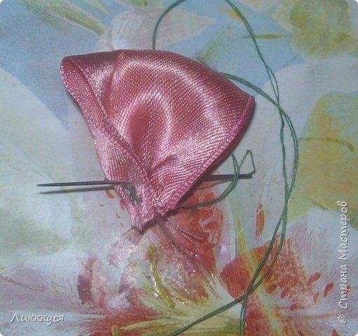 Вот такой бантик у меня получился из остатков лент.  Вам потребуется Ленты: розовая, желтая, красная, голубая. фото 4