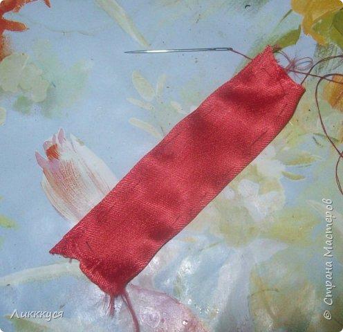 Вот такой бантик у меня получился из остатков лент.  Вам потребуется Ленты: розовая, желтая, красная, голубая. фото 6