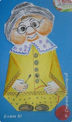 Предлагаю приготовить вместе с детьми такую вот открытку  любимой бабушке на День пожилого человека  фото 23