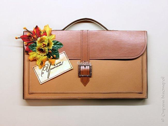 Сладкий портфель в подарок учителю!