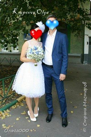 Свадебное платье и шляпка