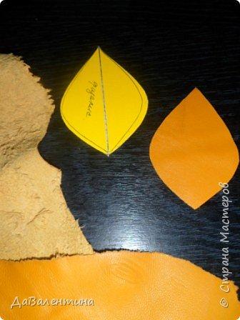 Картина панно рисунок Мастер-класс Праздник осени Ассамбляж Картина из кожи Осенний Париж  Мастер-класс Кожа фото 11