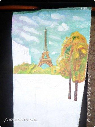 Картина панно рисунок Мастер-класс Праздник осени Ассамбляж Картина из кожи Осенний Париж  Мастер-класс Кожа фото 48