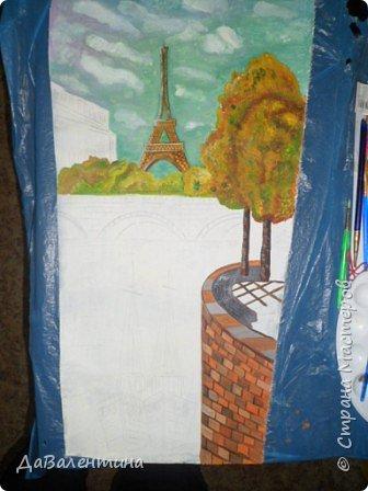 Картина панно рисунок Мастер-класс Праздник осени Ассамбляж Картина из кожи Осенний Париж  Мастер-класс Кожа фото 49