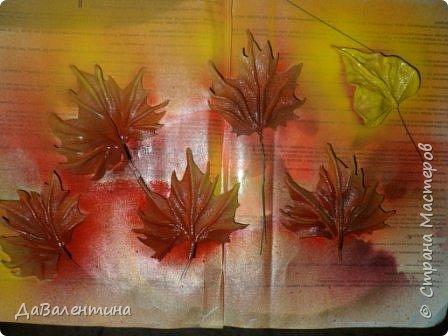Картина панно рисунок Мастер-класс Праздник осени Ассамбляж Картина из кожи Осенний Париж  Мастер-класс Кожа фото 39